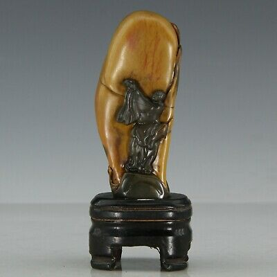 Chinese Exquisite Hand-carved Luohan Carving Shoushan Stone seal