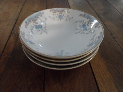 """Seville Imperial China=4-5.5""""  Berry Bowls=Blue Roses=W Dalton=Nice Condition"""