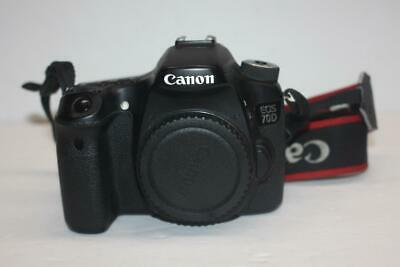 Canon EOS 70D 20.2MP Digital SLR Camera - Black (Body Only) SHUTTER COUNT: 6956