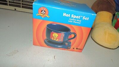 Tweety Bird Looney Tunes Hot Spot Set Electric Heat - Salton Mug Warmer  new