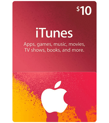 iTunes 10$ - Apple app store iTunes 10 USD USA (EMAIL DELIVERY)