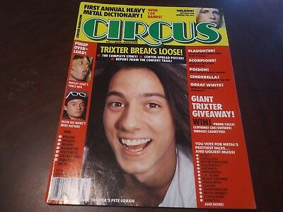 Vintage Circus Mag Mar 1991 !! Metallica,Motley Crue,Skid Row,Faith no More,Ozzy