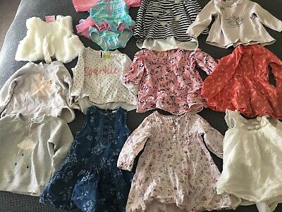 Baby girl size 0 clothes bundle 40+ items