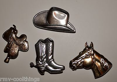 e1b849f92af Vintage 14K Yellow and White Gold Plated Button Covers Hat Boots Saddle    Horse