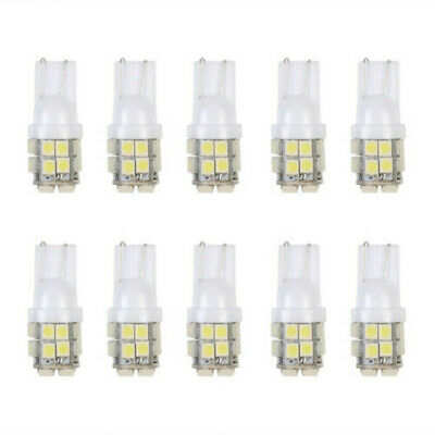 10x T10 20-SMD LED White Super Bright Car Lights Bulb 194 168 2825 W5W