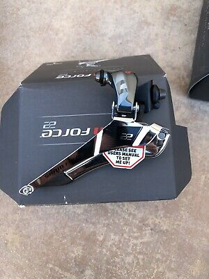 SRAM FORCE 22 11 Speed YAW FRONT DERAILLEUR w Chain Spot. NO RESERVE auction.