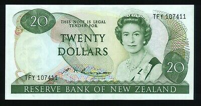 New Zealand $20 Bank note Russell 1985-89  ~EF-AU   TFY 107411
