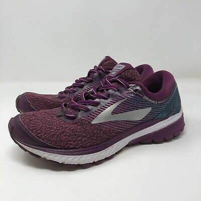 9d967f71e44 BROOKS Ghost 10 Womens Purple Knitted Athletic Road Running Shoes Sneaker  US 9.5