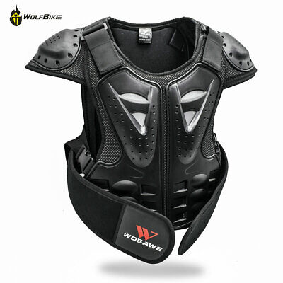 Child Dirt Bike Chest Guard Armour Vest Motorcycle Cycling Spine Protective Gear