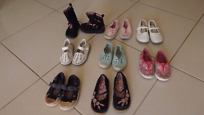 Bulk lot girls shoes suit age 3 to 4 including Barbie boots