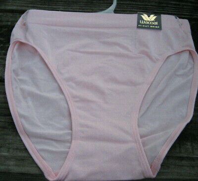 7728ce4264e2 WACOAL M 6 Dawn Pink Pantie Seamless B Smooth Hi-Cut Ruched Panty NWT 834175