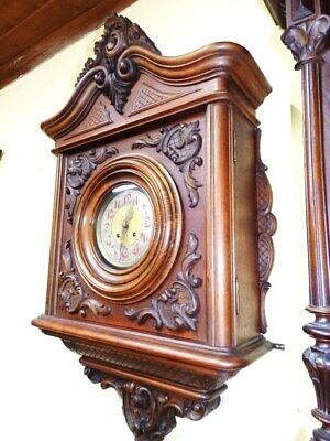 Large Old Vienna Baroque  Wall Clock For A Easy Restauration