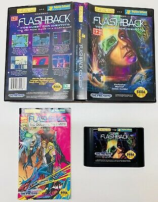 Flashback: The Quest for Identity (Sega Genesis, 1993) COMPLETE! FAST SHIPPING!