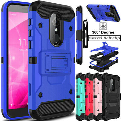 For Alcatel T-Mobile Revvl 2/Alcatel 3 Case Shockproof TPU Clip Stand Hard Cover