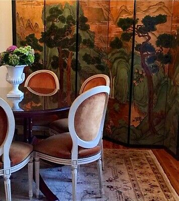 Stunning French Velvet Dining Chairs x 6