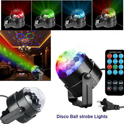 RGB 3W Nequare Party Sound Activated DISCO BALL STROBE LIGHT with Remote Control