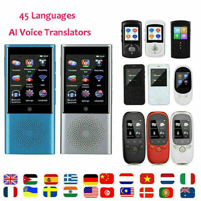 AI Smart Touch Screen Instant Voice Translator 45 Language Real Time Translation