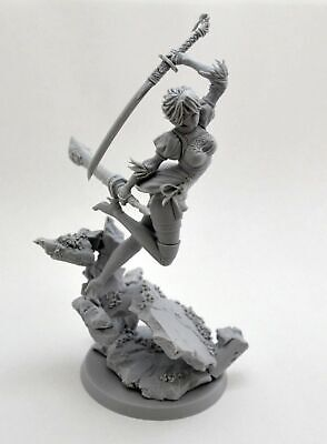 1/24 75mm Resin Figure Model Kit Sexy Girl With Sword Beauty Ancient Soldier Toy