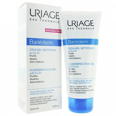 NEW Uriage Eau Thermale Bariederm Cleansing Cica-Gel 200ml