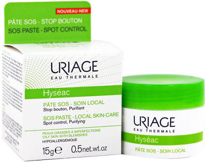 Uriage Hyseac SOS Paste 15g Spot Control Oily Skin With Blemishes