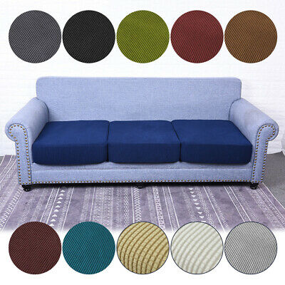 1-4 Seat Stretchy Sofa Seat Cushion Cover Couch Slipcovers Protector Replacement