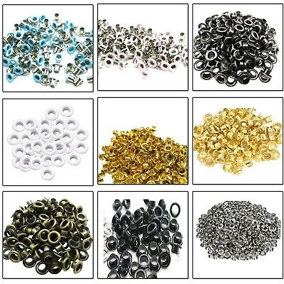 100pcs 2mm - 12mm Brass Eyelets Grommets DIY Leather Crafts Bags Clothing Repair