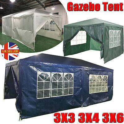 Party Tent Outdoor PE Garden Gazebo Marquee Canopy Awning With Full Sidewall UK