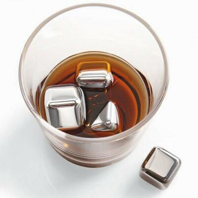 New Reusable Stainless Steel Ice Cube Health Whiskey Cooler Drink Chiller Gift