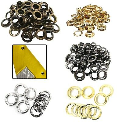 14mm - 20mm Brass Rust Proof Eyelets with Washers for Banners Making Yoga Mats