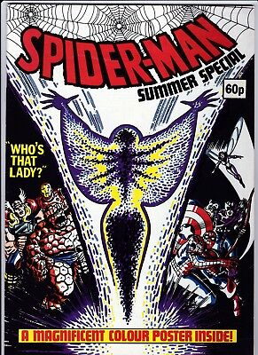 Spiderman Comic Summer Special 1983 Marvel - Colour Poster Inside