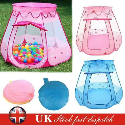 Kids Princess Castle Playing Tent Indoor Outdoor Playhouse Fun Toy