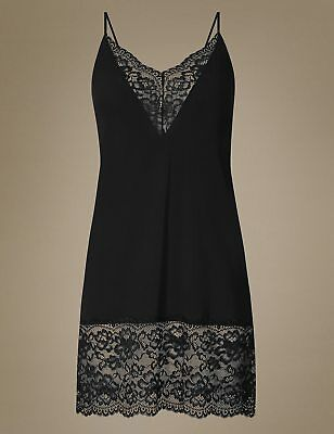 Ladies Ex Marks And Spencer Louisa Lace Trim Full Slip M&S Collection Underwear