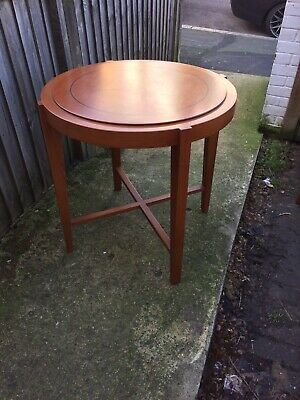 Italian Occasional Table Side Table Cherry Wood Art Deco 1920s Style