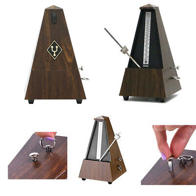 Metronome Mechanical Music Timer Wood Vintage Classical for Piano Guitar UK