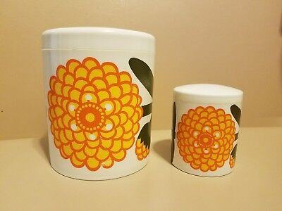 Set of 2 Vintage Mid Century Modern LAURIDS LONBORG Denmark Storage Canisters
