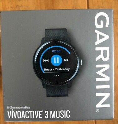 Garmin Vivoactive 3 Music Smart Watch - Black - NEW SEALED