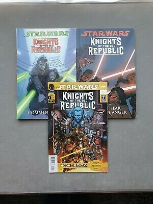 2 x Star Wars 'Knights of the Old Republic' Graphic Novels & 1 Comic Book