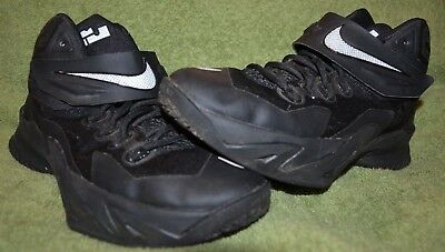 the latest 42874 95d61 Nike Boys Soldier VIII 8 Lebron James Basketball Shoes 653645-008 Black Sz  5.5Y