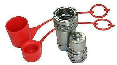 "Flowfit Hydraulic Iso A Quick Release Couplings 1/4""Bsp Thread & Plugs/Caps"
