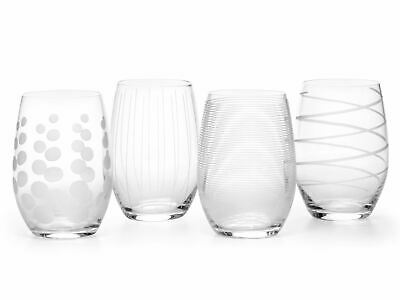 Mikasa Cheers Set Of 4 17Oz Stemless Wine Glasses