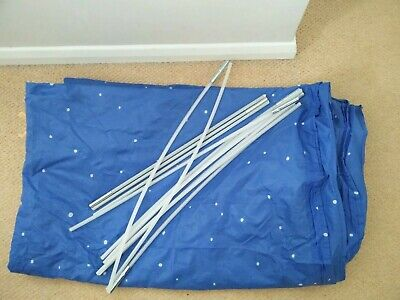 Ikea Kura Canopy Single Bed Tent in blue with white spots Kids Bedroom Unisex