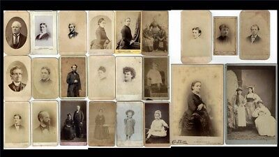 23 Vintage Antique Black & White Monotone Photo Cards Late 1800s Early 1900s