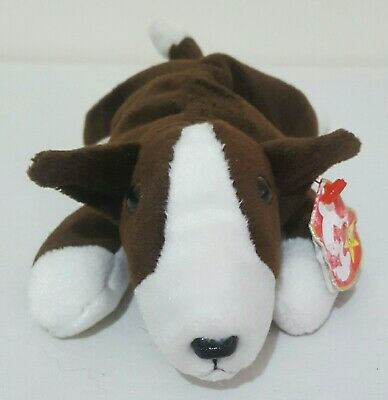 7dbd9e56736 TY BEANIE BABIES Dog Butch The English Bull Terrier with Tag - £8.99 ...