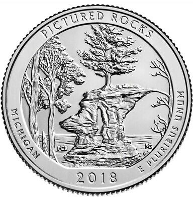 2018 S Pictured Rock National Lakeshore BU Quarter