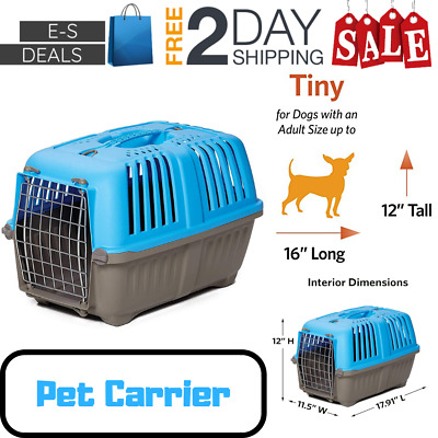 Eses Pet Carrier For Dog Cat Home Or Traveling Carrying Handle 19 Inch Hard Side
