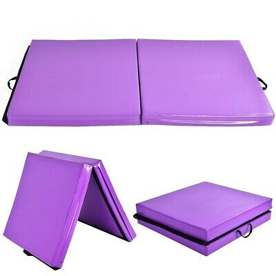 6' x 3.2' Portable Thick Gymnastics Mat With Two Folding Panel Sport Skill Train