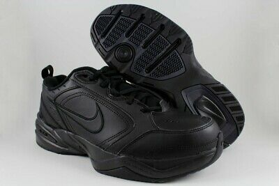 0f757fe7fd09ec Nike Air Monarch IV Mens Black Comfort Lace Up Running Training Shoes Size  US 10
