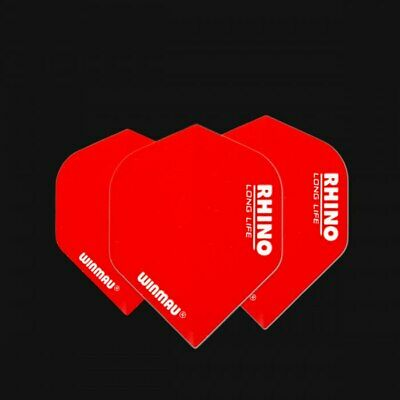Winmau Rhino Super Thick dart flights red