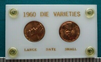 1960 D Die Varieties Large and Small Date Lincoln Cent Set #1599