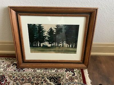 Vintage 1970's Peter Ferber Signed Watercolor Painting/original Painting